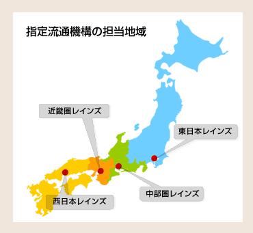 指定流通機構の担当地域